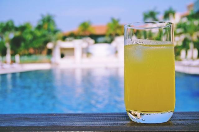 沖縄の水道直結型ウォーターサーバーで作ったジュース
